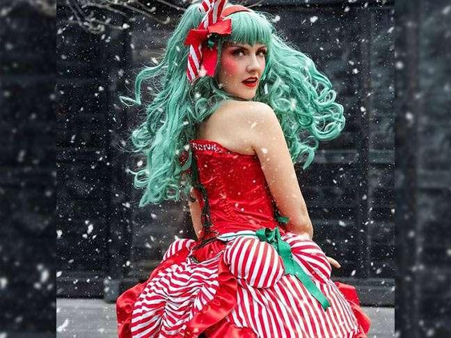 Candy Cane Kostüm selber machen