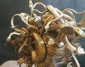 Etsy - Kostüm selber machen - Medusa Kopfteile