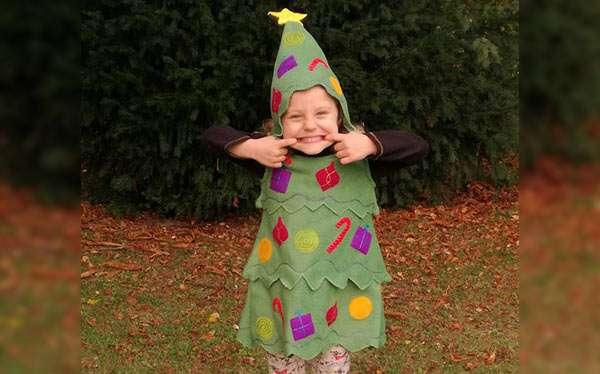 Tannenbaum Kostüm selber machen