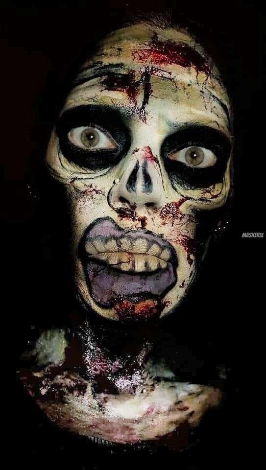 Zombie Makeup selber machen
