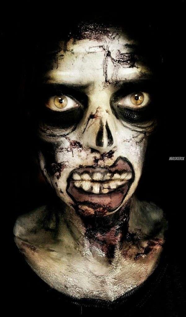 Zombie Kostüm Makeup maskerix