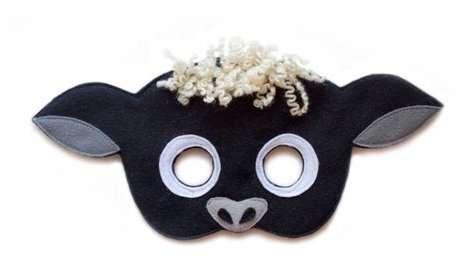 Etsy - Schaf Kostüm selber machen - Masken