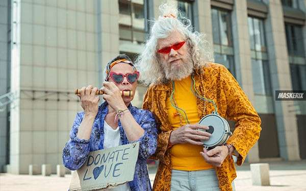 maskerix - Hippie Kostüm selber machen