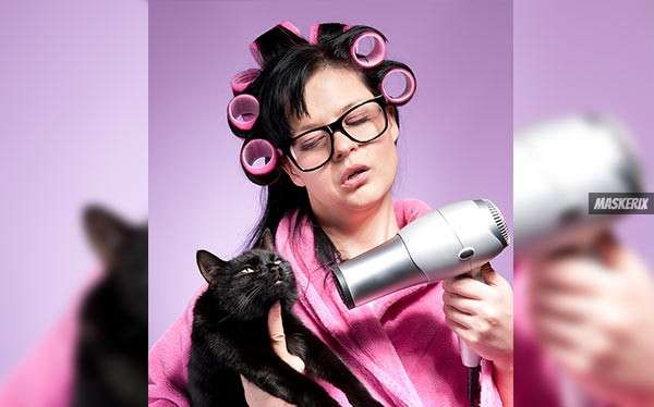 Simpsons verrückte Katzenlady Kostüm selber machen