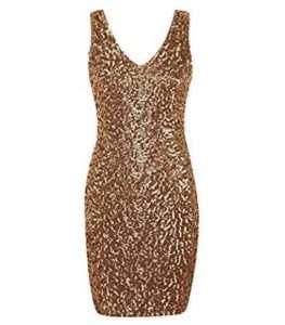 Amazon - Kostüm selber machen - Goldenes Kleid