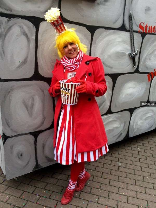 maskerix - Foto Contest Karneval 2018 - Popcorn Kostüme selber machen
