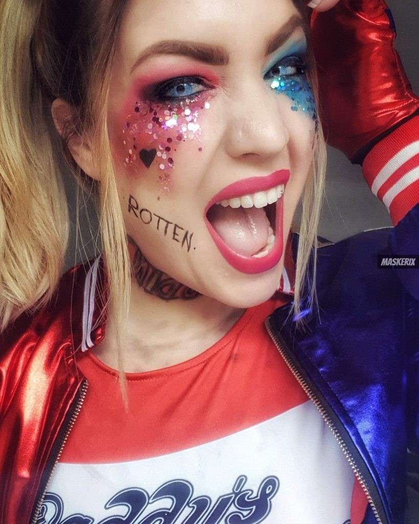 maskerix - Karneval-Foto-Contest 2019 - Harley Quinn Kostüm selber machen
