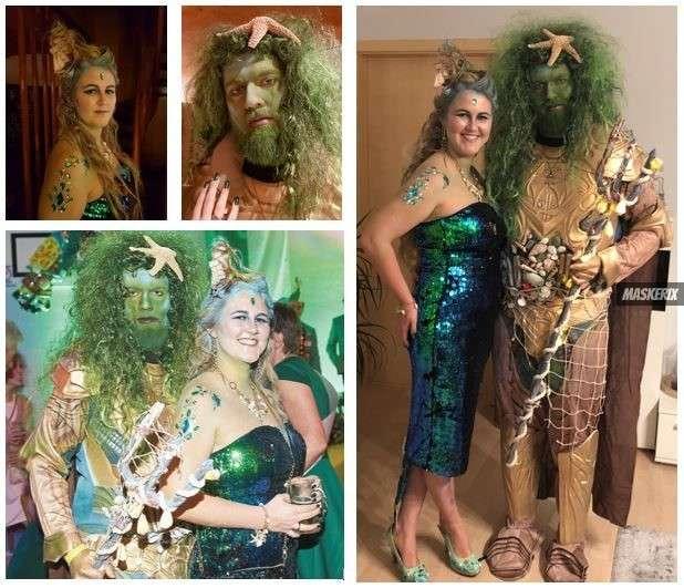 maskerix - Karneval-Foto-Contest 2019 - Sirene & Gott der Gezeiten Kostüm selber machen
