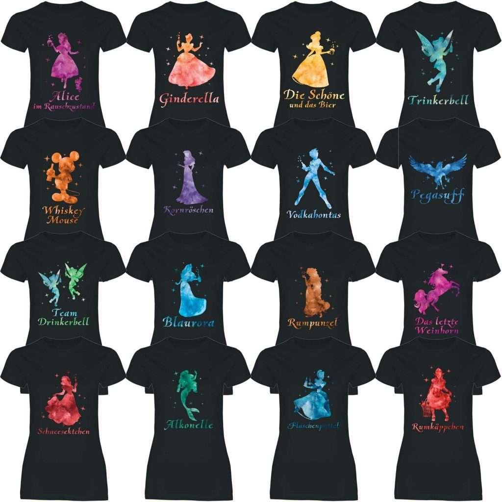 Ebay - JGA Shirts für die Braut - Disney Prinzessinnen