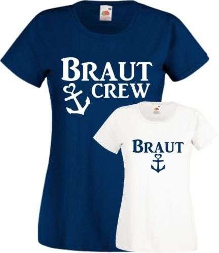 Ebay - Junggesellen Abschied Shirts für die Braut - Maritim