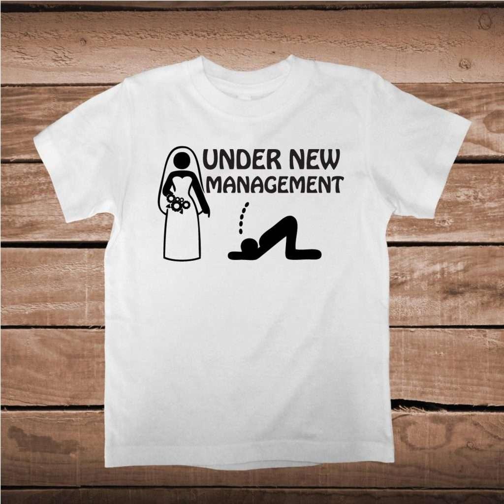 Etsy - JGA Shirt für den Bräutigam - Under New Management