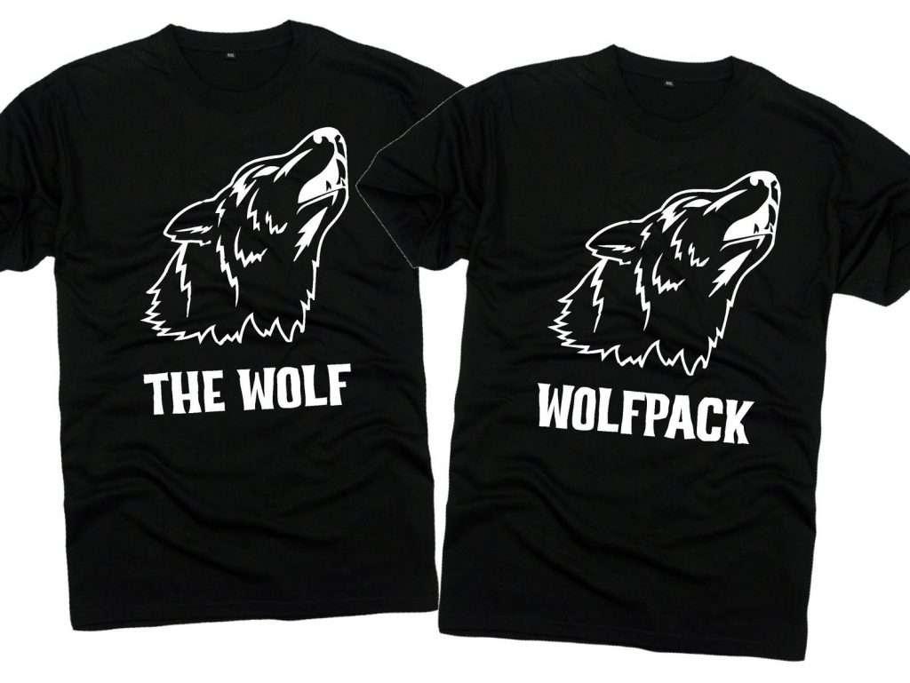 Etsy - JGA Shirt für den Bräutigam - Wolf & Wolf Pack Shirts