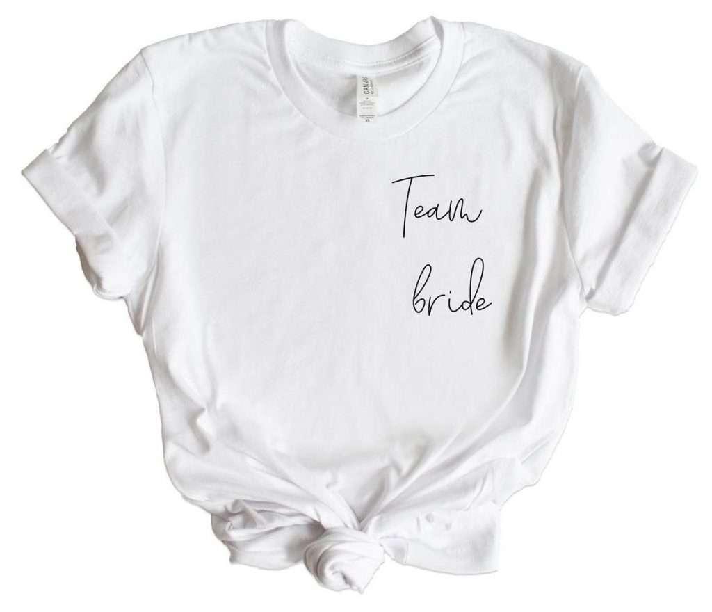 Etsy - JGA Shirts für Braut und Team