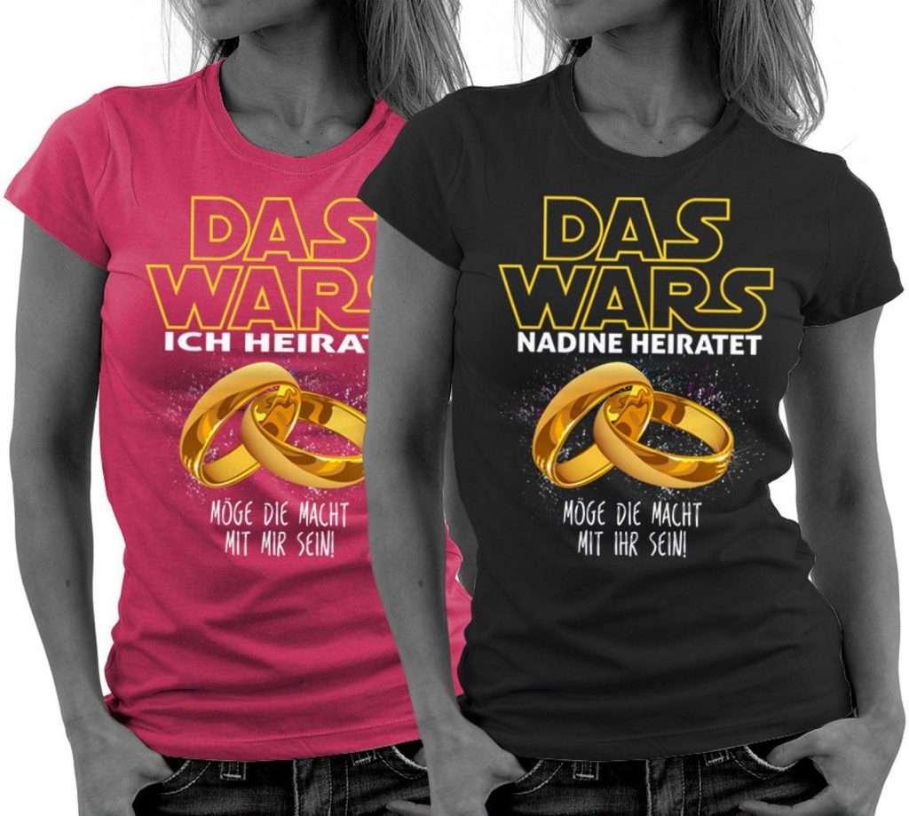 Etsy - Junggesellinnen-Abschied Shirt DAS WARS