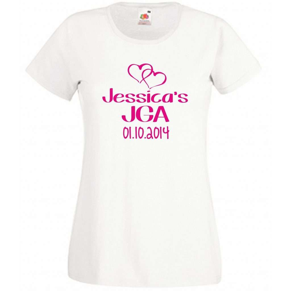 Etsy - Personalisierte JGA-Shirts für die Braut