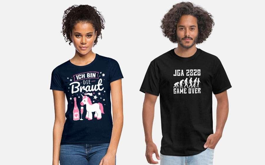 JGA Shirts für Frauen & Männer