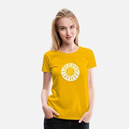 Glücksbärchi Shirt Gelb Sonne