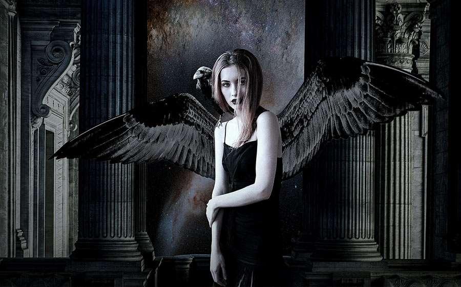 Schwarzer Engel Kostüm selber machen