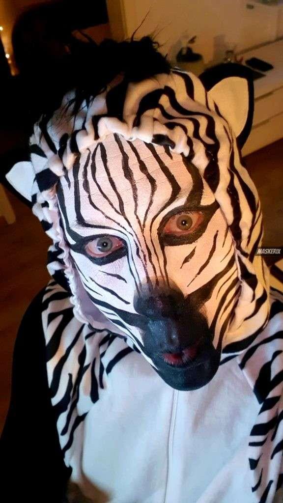 maskerix - Karneval-Foto-Contest 2020 - Zebra Kostüm selber machen2