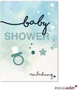 amazon - Babyparty Einladungskarte Boy