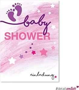 amazon - Babyparty Einladungskarte Girl