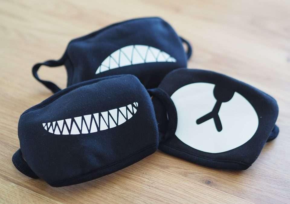 Masken für Kostüme an Halloween, Fasching & Karneval