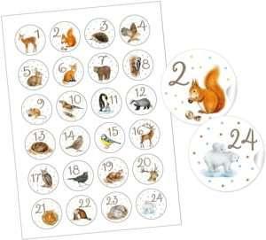 amazon - Tiersticker Adventskalender